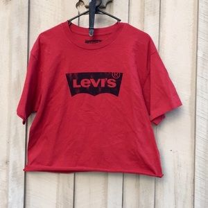 Vintage Levi's Logo Crop Top